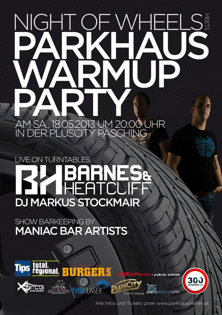 Plakat Night Of Wheels Parkhaus Warmup Party